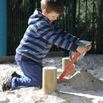 Creating in the sandpit