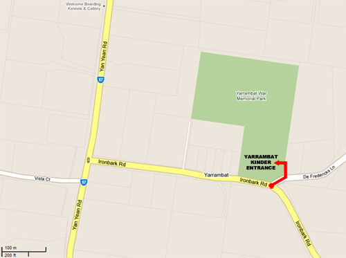 Directions to Yarrambat Kinder